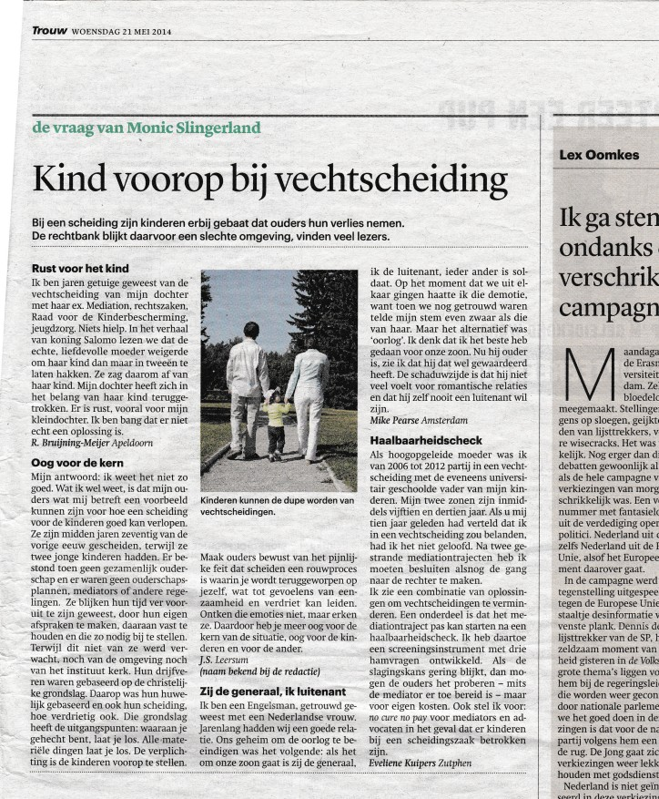 Trouw article